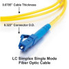 LC Simplex Fiber Optic Cable (Not Included)