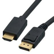 Active 4Kx2K@30Hz, Male Plug DisplayPort to HDMI Male Plug Cable, 10 Ft. Long