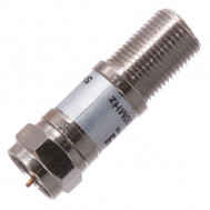 "Female ""F"" to Male ""F"" Inline 20 dB Attenuator, 75 Ohm"