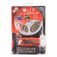 (6000K) White 5 M. Reel, 3-Chip L.E.D. Light Strip with 2.1mm Female & Male Coax Plugs, KIT