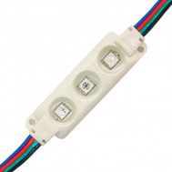 RGB, 3-Chip L.E.D. Modules with 4 pin Male connector, 20 Pcs