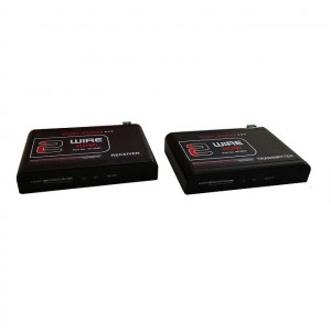 2 Wire HDMI Transmitter and Receiver Pair with IR, RS232