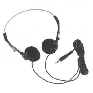 Mini Stereo Headphones with 3.5mm Right Angle Plug