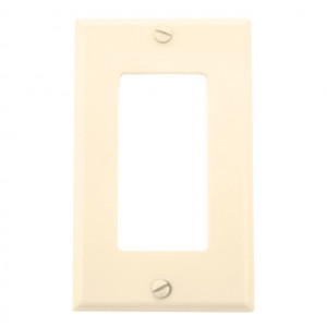 Single Gang Ivory Plastic Wall Plate