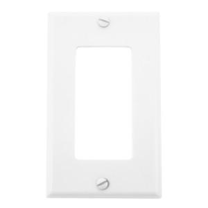 Single Gang White Plastic Wall Plate
