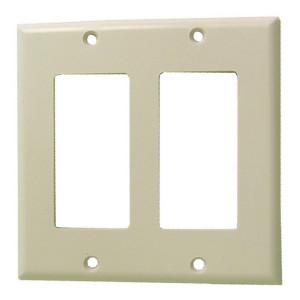 Dual Gang White Plastic Wall Plate