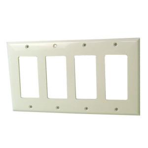 Triple Gang Ivory Plastic Wall Plate
