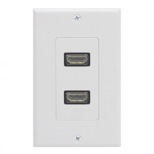 Dual HDMI Straight Snap In with Wall Plate