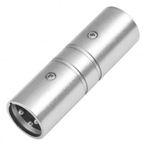 3 Pin XLR Male to Male Coupler