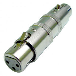 3 Pin XLR Female to Female Coupler