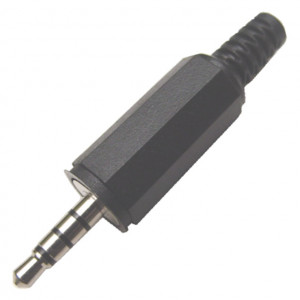 4 Conductor 3.5mm Stereo Plug with Strain Relief