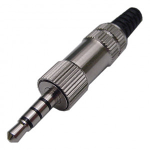 4 Conductor 3.5mm Stereo Plug with Metal Housing