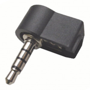 Right Angle 4 Conductor 3.5mm Stereo Plug