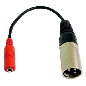 3.5mm Stereo Jack to 3 Pin XLR Male Plug