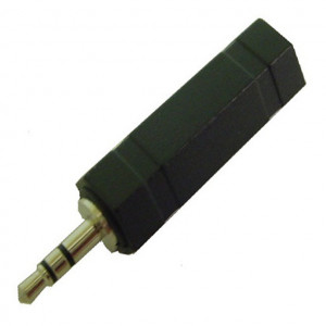 """1/4"""" Mono Jack to 3.5mm Stereo Plug Adapter with Plastic Body"""