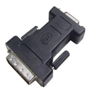 DVI-I Plug to DB15 VGA Jack Adapter