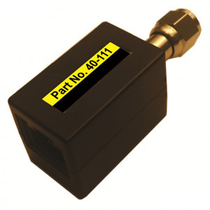 QAM Fixed Length RJ45 female to Coax 'F' Male Adapter (Sold in Pairs)
