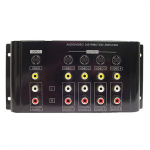 1 x 4 Composite, S-Video and Analog Audio Distribution Amplifier