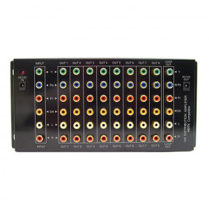 1 x 9 Composite and Component Video and Analog Audio Distribution Amplifier