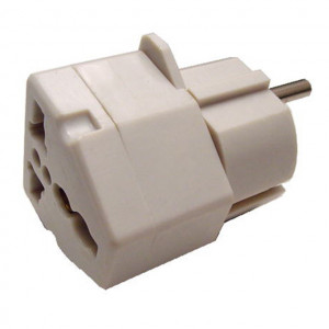 All Countries Input to 2 Prong European Plug Adapter