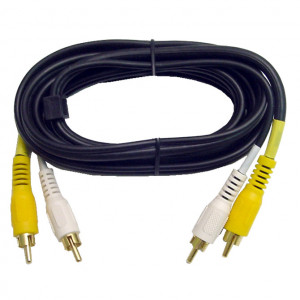 Video/ Mono Audio Interface Molded Dubbing Cable, Gold Plated 12 Ft. Long