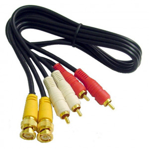 BNC Audio Video Interface Molded Dubbing Cable, Gold Plated 12 Ft. Long