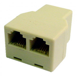 "Ivory 3 Way 4 Wire Modular ""T"" Connectors"