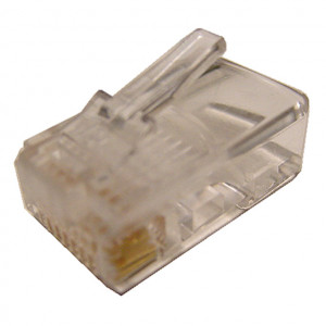 Modular Plug RJ45 8 Wire for Round Cable Type, 5 pcs