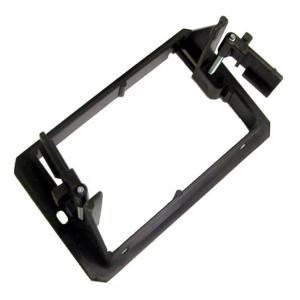 Black Single Gang Plastic Flush Mount Wall Bracket with Adjustable Locking Tabs