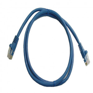 Blue RJ45 Snagless Cable - 350 MHz CAT 5e, 1 Ft. Long, 5 Pcs