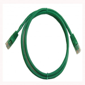 Green RJ45 Snagless Cable - 350 MHz CAT 5e, 1 Ft. Long