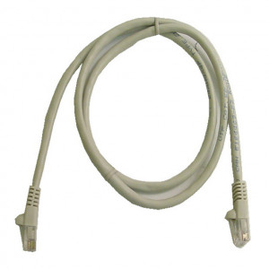 Grey RJ45 Snagless Cable - 350 MHz CAT 5e, 1 Ft. Long