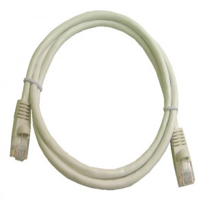 White RJ45 Snagless Cable - 350 MHz CAT 5e, 1 Ft. Long, 5 Pcs
