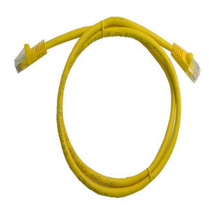 Yellow RJ45 Snagless Cable - 350 MHz CAT 5e, 7 Ft. Long, 5 Pcs