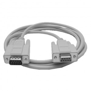 Serial (RS232) DB-9 Male to Female Cable, 10 Ft. Long