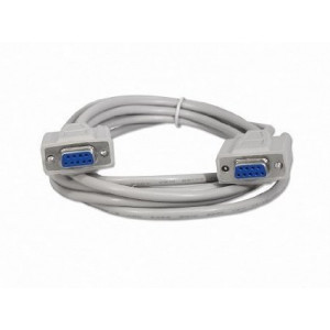 Serial (RS232) DB-9 Female to Female Cable, 6 Ft. Long