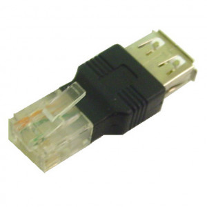 USB Type A Female to RJ45 Plug Adapter