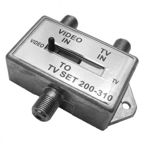 A+B TV Antenna VCR & Cable Switch, 75 Ohm