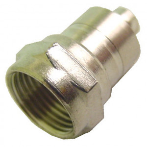 F-59 Connector with Ferrule Attached for RG59 Cable