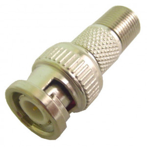 """""""F"""" Female to BNC Male Adapter, Gold Plated"""