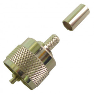 UHF Male with Long Crimping Ring for RG-59 Coax Cable