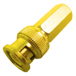 Solderless Screw-On BNC Male for RG-59/U Cable, Gold Plated