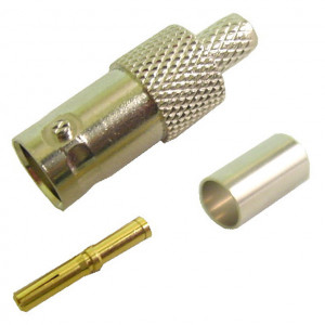 BNC Female Inline Connector Crimp-On for RG-59