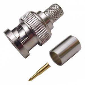 BNC Crimp-On Connector for RG-6, 75 Ohm