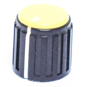 "9/16"" Dia. Black Base with Yellow Cap Knob"