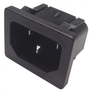 Snap In Chassis Mount AC Male Socket