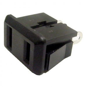 2 Prong Chassis Mount AC Receptacle