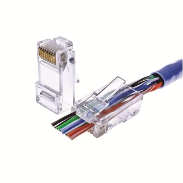72-491P-50 Cat6 EZ Pass Through Connectors