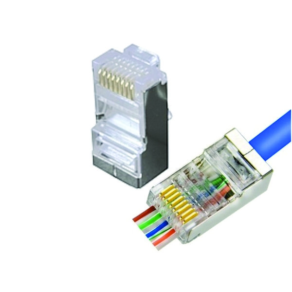 72-491SH-10, 10PK Cat5e Shielded Pass Through Connectors